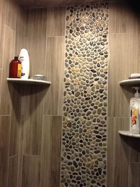 bathroom pebble tiles glazed bali pebble tile shower wall accent pebble