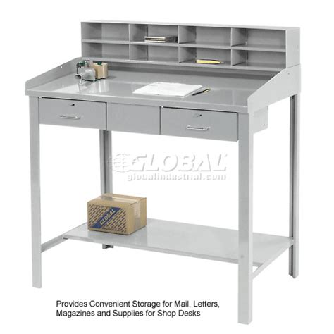 Shop Desks by Shop Desks Shop Desks 8 Pigeon Riser For 48 Quot W