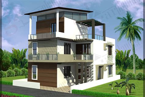 Home Design Samples For India by Triplex House Plans Ghar Planner