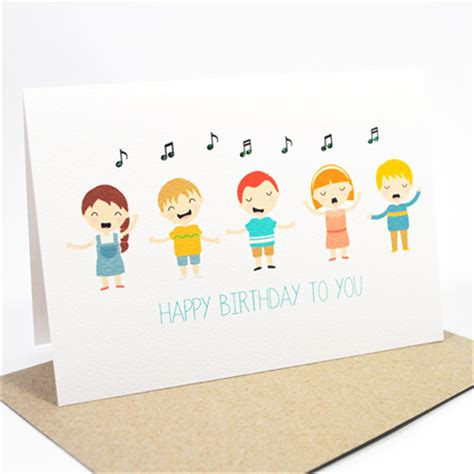 Singing Birthday Cards For Children