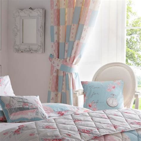 Pink Patchwork Curtains - patsy patchwork pencil pleat curtains in pink dreams