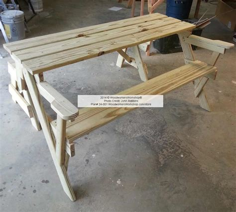 plans for picnic table bench combo folding bench and picnic table combo plans online