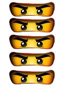 printable ninjago eyes for balloons ninjago on pinterest lego ninjago ninjas and party favors