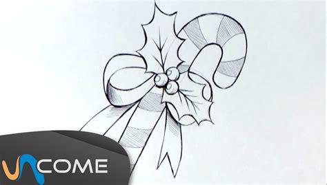 come disegnare fiori come disegnare i bastoncini di zucchero per natale