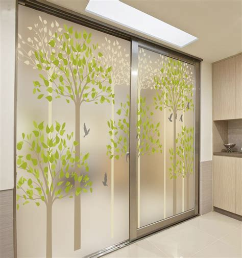 glass door sticker designs india decorative self adhesive static cling stained window