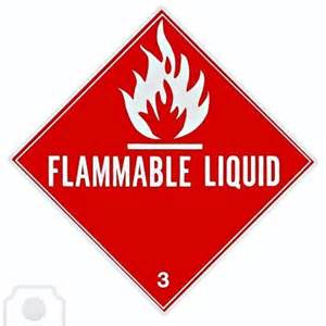 1489536 placard or sign to warn of a flammable liquid