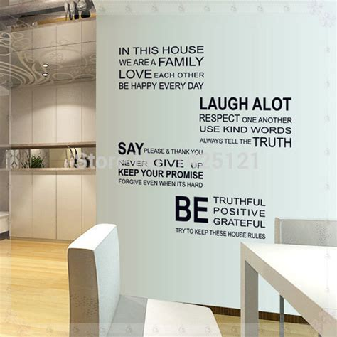 home decoration in bangalore helpr free quote romantic letter sticker family rules home decor quotes