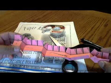 How To Make A Roller Coaster With Paper - how to make steps for paper roller coasters