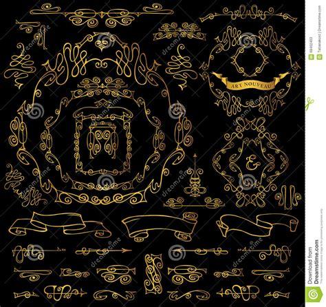 gold vintage design elements vector calligraphic royal design elements gold frames borders