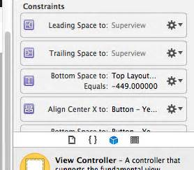 xcode layout alignment ios add spacing constraint to superview in xcode 5