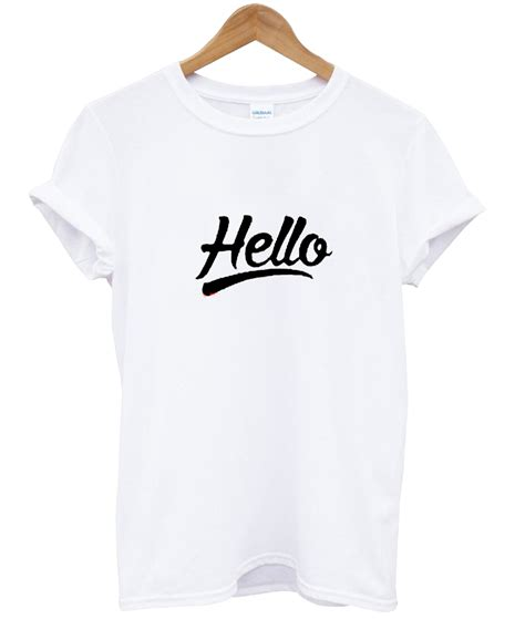 Hello Golden Tshirt hello t shirt