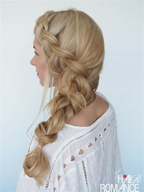 how to style big braids how to style a big side braid instant mermaid hair