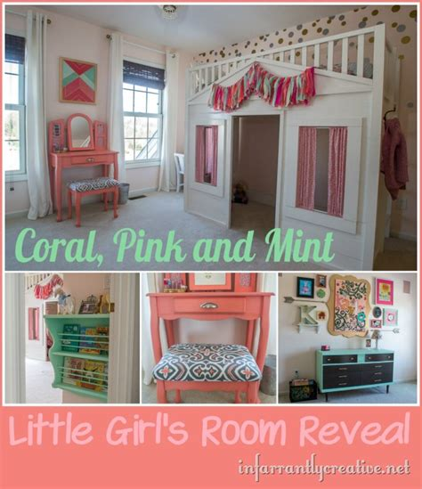mint and coral home decor coral mint and pink little girls room reveal