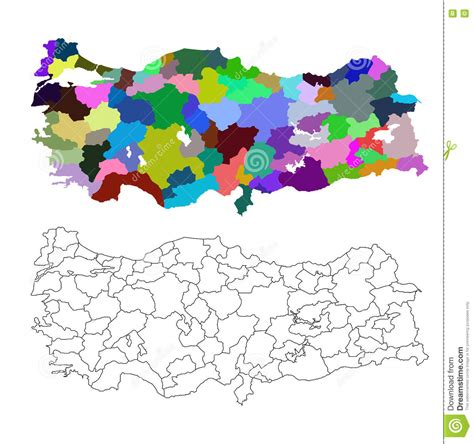 turkey vector map map of turkey stock vector image of ankara asia