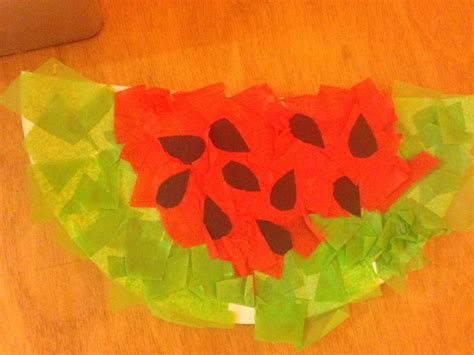 Arts And Crafts With Tissue Paper - watermelon tissue paper m 226 ch 233 arts and crafts for school