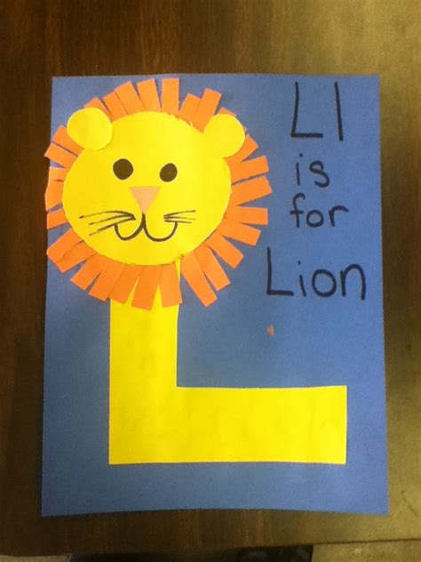 crafts for preschoolers easy letter l easy craft for preschool kidscrafts