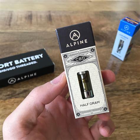 alpine vapor  resin high cbd oil vape cartridge