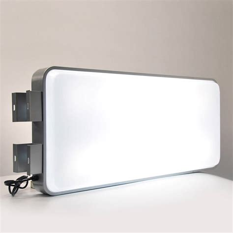 Multi Blank Rectangular Round 1 Illuminating Projecting Outdoor Light Box Signs