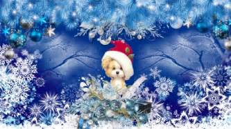 firefox themes snow puppy blue christmas other abstract background