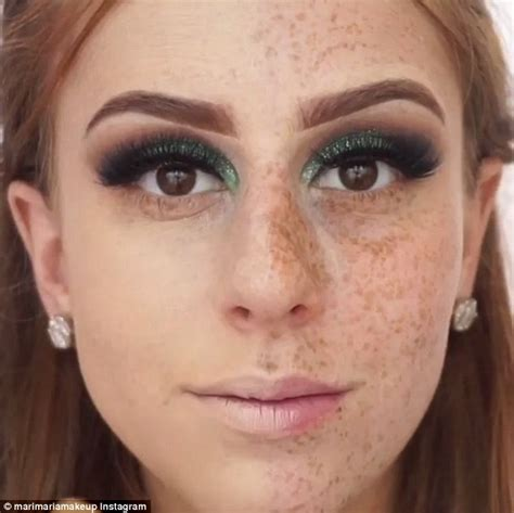 Make Up Marina talented make up artist completely covers freckles