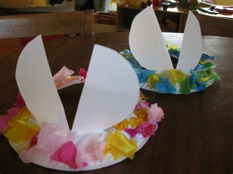 How To Make A Paper Easter Bonnet - make your own easter hat with ears from a paper plate