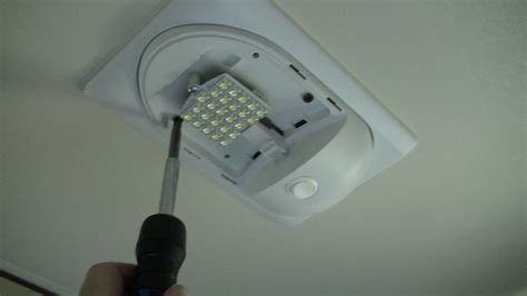 rv led lights replacing rv light fixture for incandescent with led light