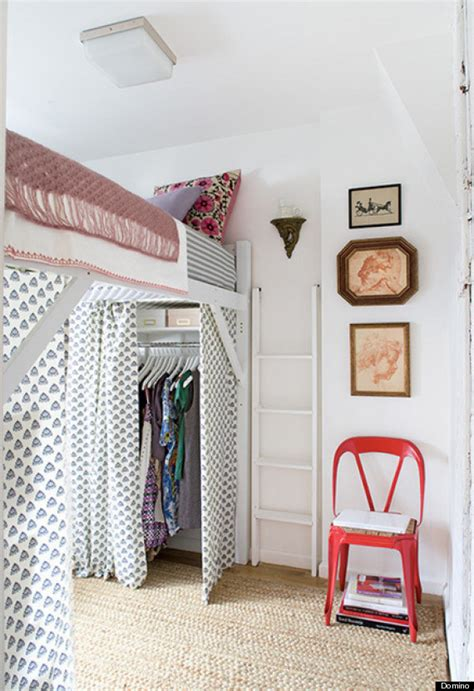 creating a closet in a room without one 11 ways to make a tiny bedroom feel huge huffpost