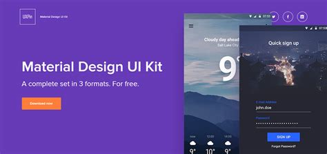 material design ui maker free material design ui kit 2018 top 40 free kits and