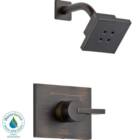 Delta Shower Faucets With Sprays by Delta Vero 1 Handle 1 Spray H2okinetic Shower Faucet Trim Kit In Venetian Bronze Valve Not