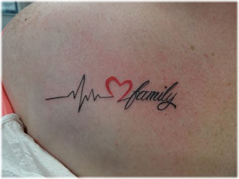 heart with heartbeat tattoo mytattooland rate ideas