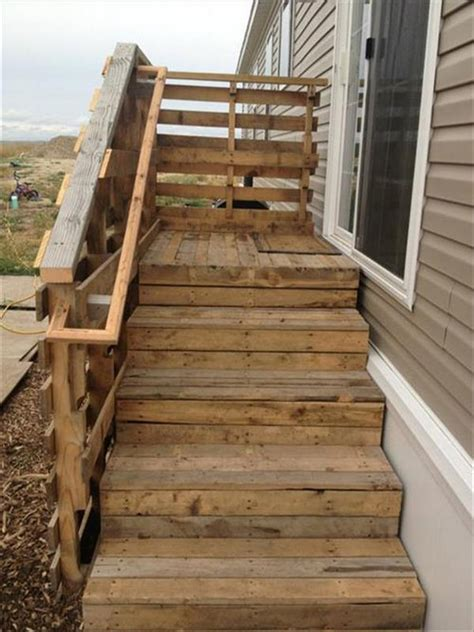 Wooden Stairs Design Ideas by Pallet Wood Stair Designs Pallet Wood Projects