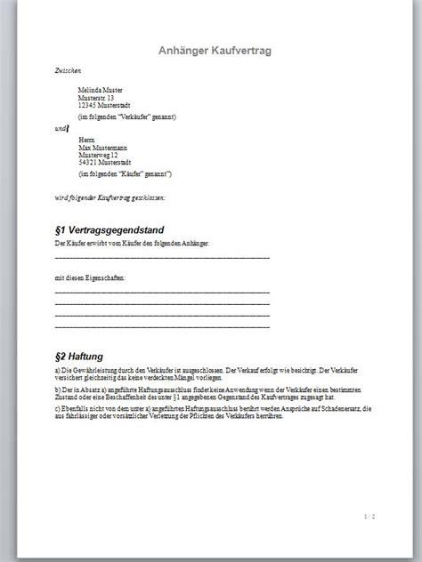 Motorrad Verkauf Probefahrt Formular by Mechanismus In Autos Einfacher Kaufvertrag Muster Kostenlos