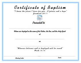baptism certificate templates www certificatetemplate org baptism certificate for your