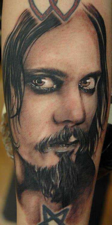 ville valo tattoos ville valo portrait