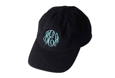 monogram black baseball cap