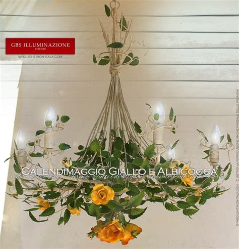 len wandleuchten yellow and apricot calendimaggio chandelier gbs