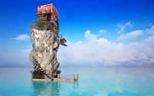 sea house creative hd 4k wallpapers