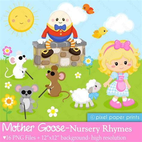 nursery rhyme clip goose nursery rhymes clipart and digital paper set