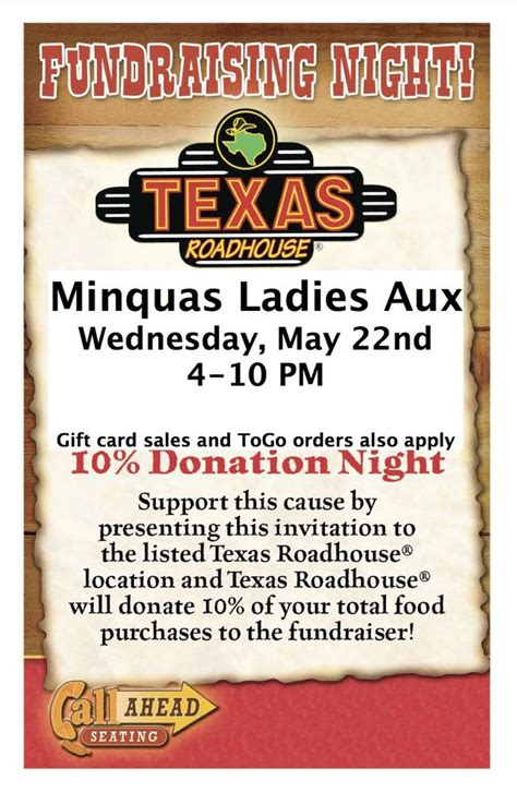 Who Sells Texas Roadhouse Gift Cards - texas roadhouse gift card fundraiser