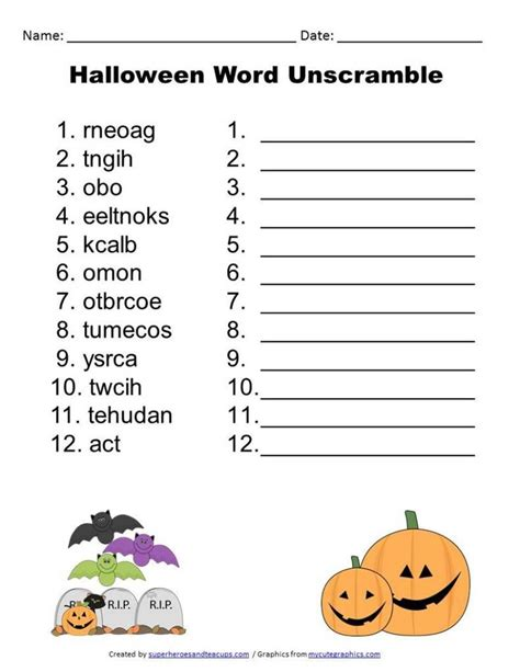 layout word unscramble free printable halloween word unscramble free