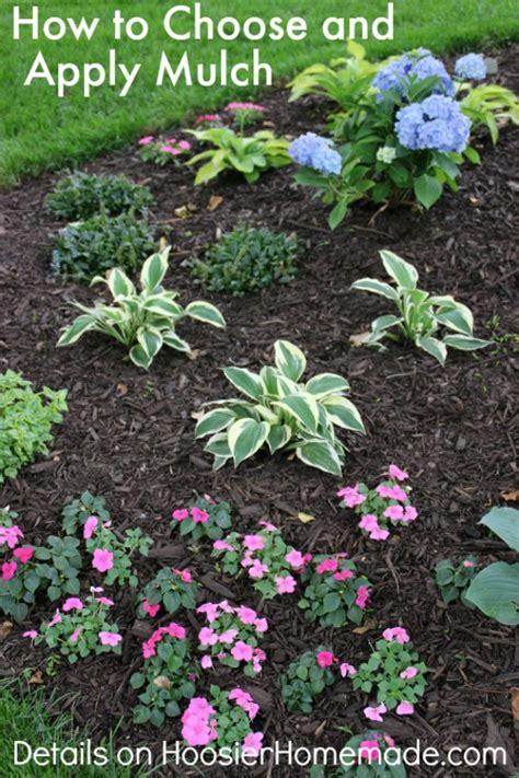 choose  apply mulch   flower beds