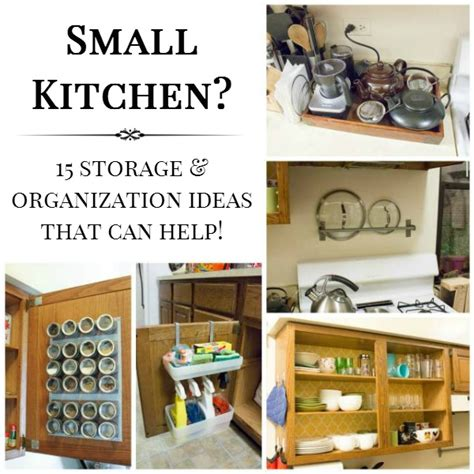 15 small kitchen storage organization ideas