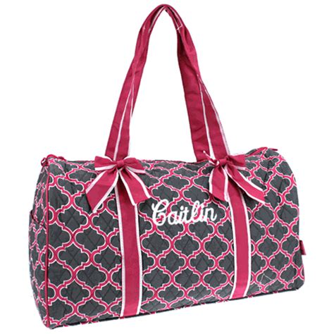 Personalized Quilted Duffle Bags by Personalized Quilted Duffle Bag Monogram Quilted Duffel
