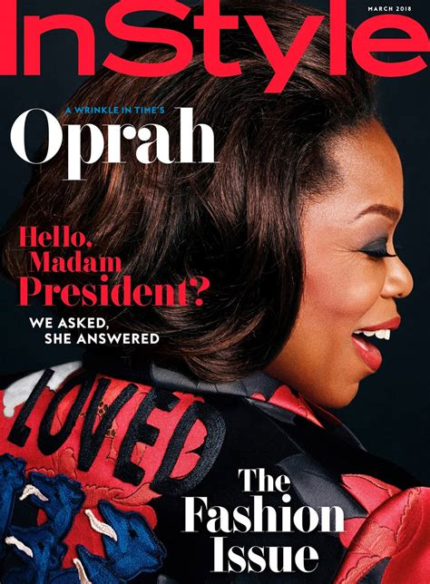 I This On In Style Magazines Site What Is In Your Bag by Oprah Covers The March Issue Of Instyle Magazine Tom