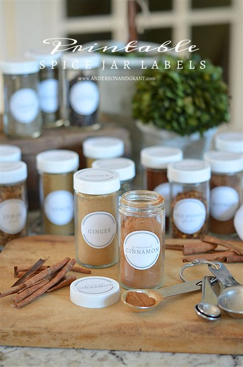 kitchen organization spice jar labels grant