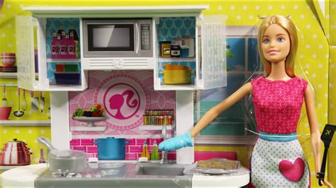 barbie doll  kitchen furniture set cfb md toys
