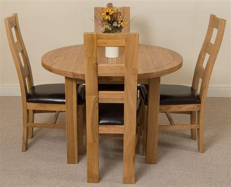 Dining Chairs Edmonton Edmonton Dining Set 4 Yale Chairs Oak Furniture King