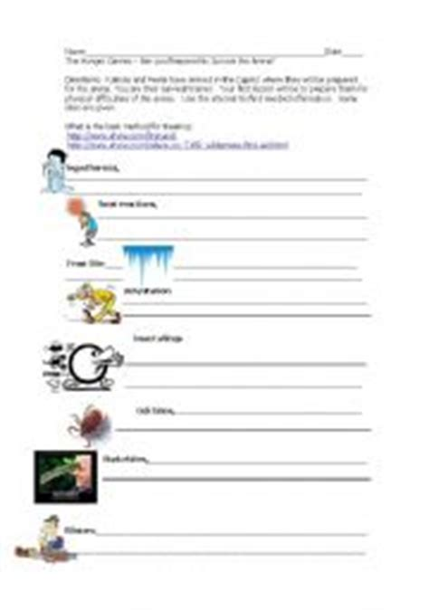 the hunger games themes worksheet answers english worksheets the hunger games are you ready for
