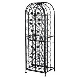 Decorative Wine Racks For Home by Homcom 45 Bottle Free Standing Decorative Wrought Iron