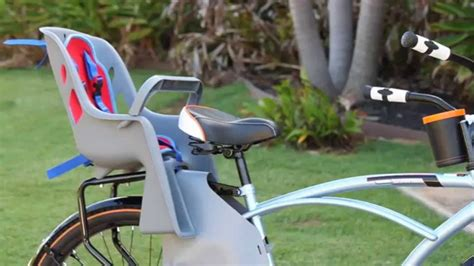 bike seat cl install bell cacoon 300 bike child carrier review